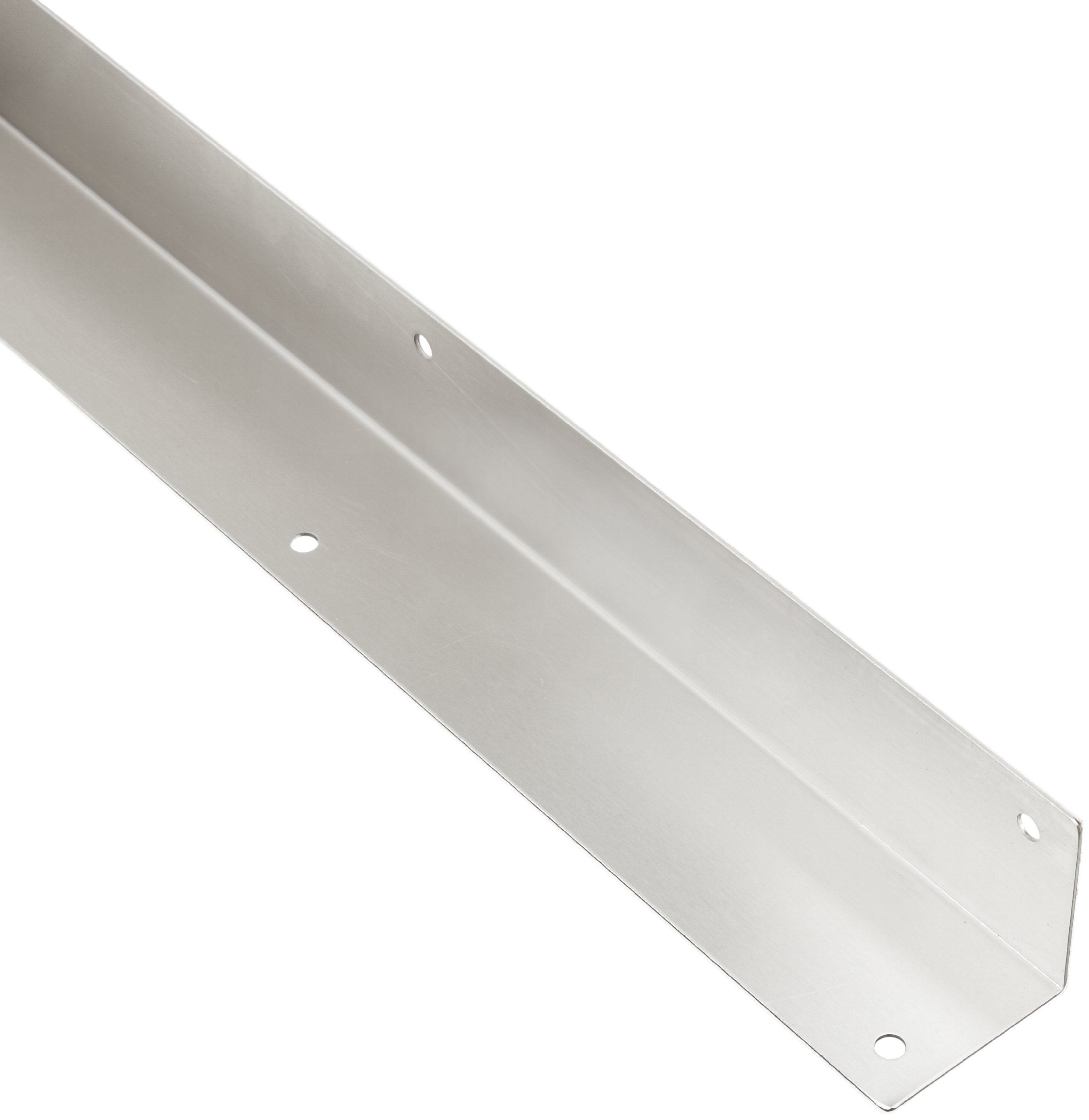 Rockwood 295.32D 2 X 2 X 40 Stainless Steel Square Corner Guard, 2'' x 2'' Edge, 40'' Height, Satin Finish