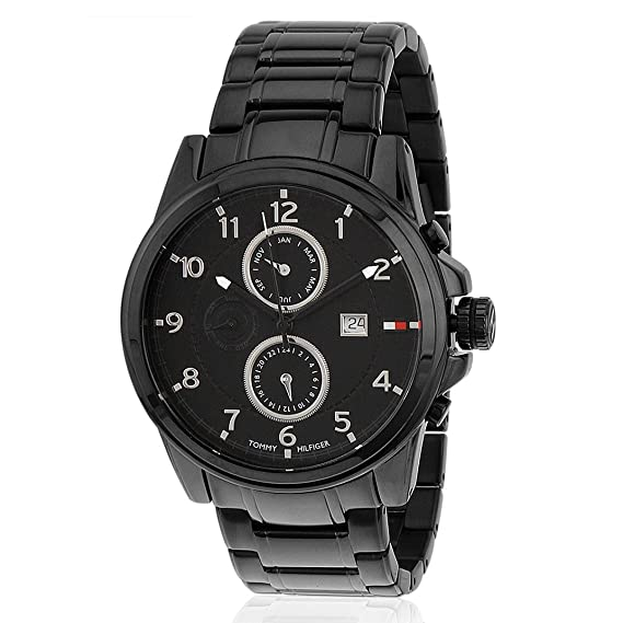 06d1ce79cbfd62 Buy Tommy Hilfiger Analog Black Dial Men s Watch - TH1790961J Online at Low  Prices in India - Amazon.in