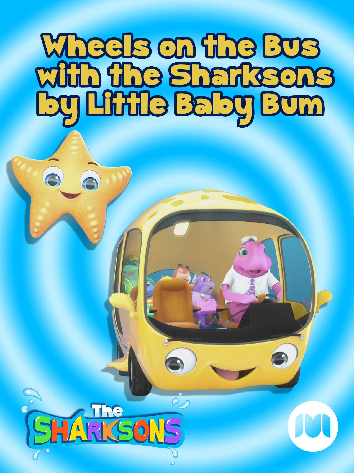 Wheels on the Bus with the Sharksons by Little Baby Bum