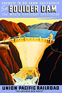 Vintage Look Reproduction Wall Decor Metal Tin Sign 12x16in,See Boulder Hoover Dam Nevada Sign,Gift Decor Novelty Metal Sign for Home Decor Tin Sign Plate Plaque for Man Women Cave