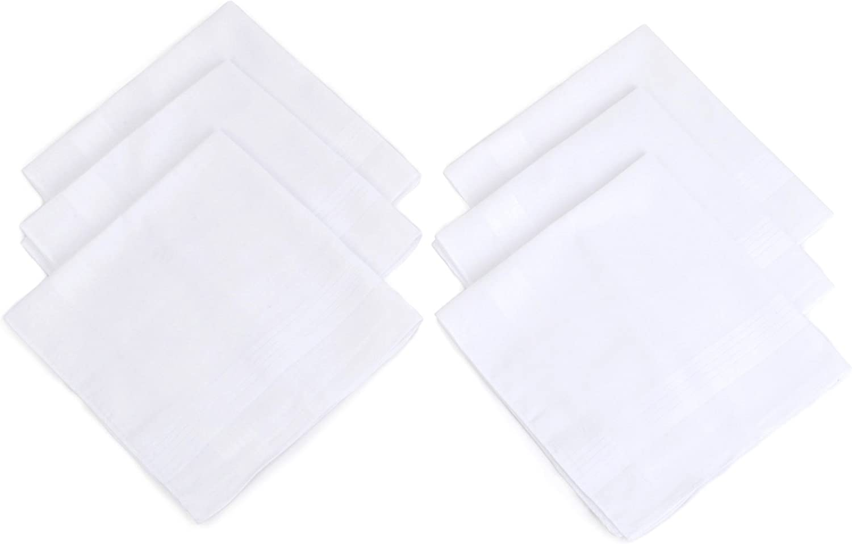 Hankie Beautiful Solid White Cotton Hankie Handkerchief