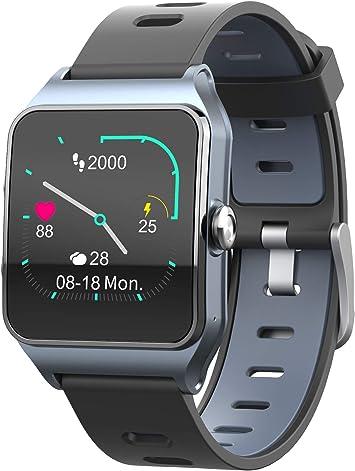 Funker T9 Track Master Gris Smartwatch para Hombre o Mujer Impermeable IP68 Pantalla T/áctil Pulsera de Actividad Bluetooth con GPS y Monitor de Ritmo Card/íaco para iOS Android
