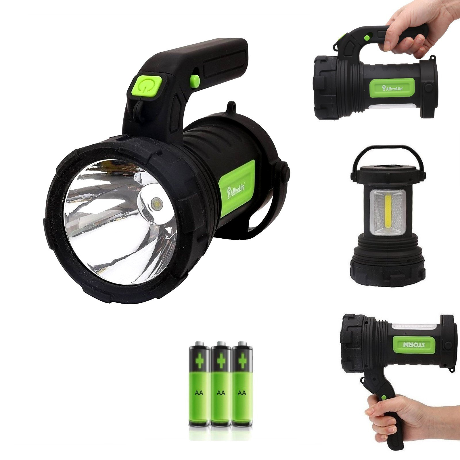 AlltroLite Storm LED Lantern - CREE LED & COB LED Spotlight, Multi-functional Camping Lantern, Waterproof LED Searchlight - Camping Lantern IP54 for Hiking, Emergencies, Hurricanes, Outages, Storms