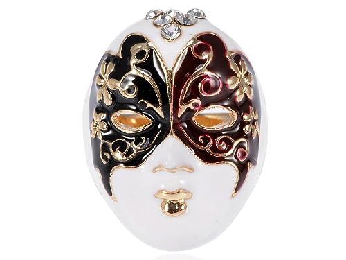 gamme exclusive Royaume-Uni disponibilité vraie affaire Alilang Peinture émail Papillon Lady Bague de masque ...