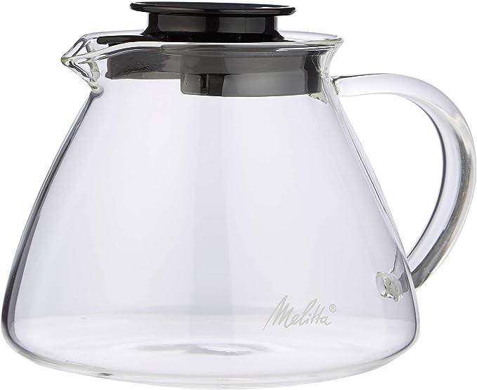 Melitta Jarra de cristal, Para preparación manual de café con ...