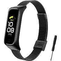 SenMore Armband för Samsung Galaxy Fit 2, rostfritt stål metallband Samsung Galaxy Fit 2 ersättningsarmband rem