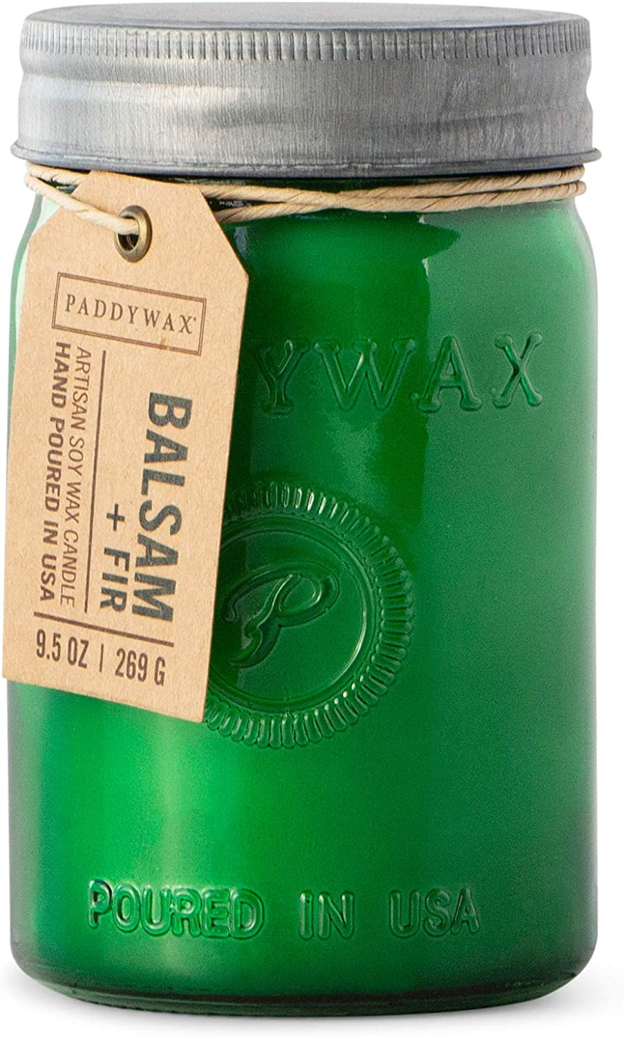 Paddywax Candles Relish Collection Scented Candle, 9.5-Ounce, Balsam + Fir