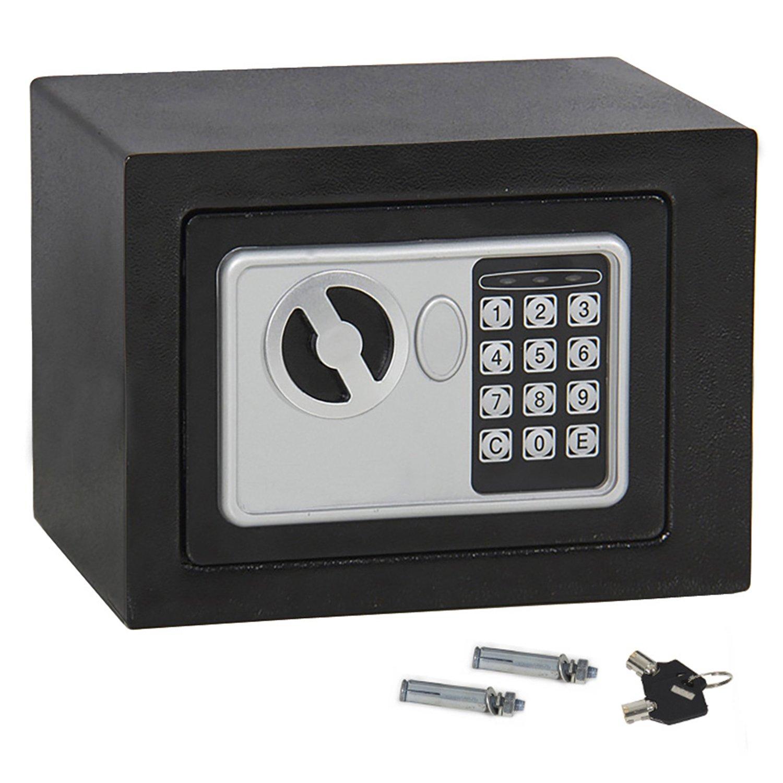 f2 C電子セキュリティセーフボックスと2つのデジタルロックキー、ガン現金ジュエリー貴重なオフィスホームホテル(# 1 ) B01B7D169C