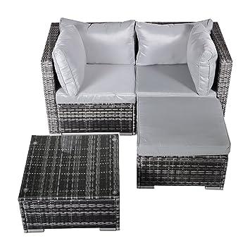 Amazonde Hansson Polyrattan Gartenmöbel Lounge Set Sitzgruppe