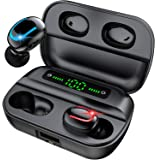 Gouxiang Bluetooth 5.0 Earphones, IPX5 True Wireless Bluetooth Earbuds in-Ear Wireless Sports Earphones (Built-in Mic, Stereo Calls, with Charging Case,50 Hours Playtime)
