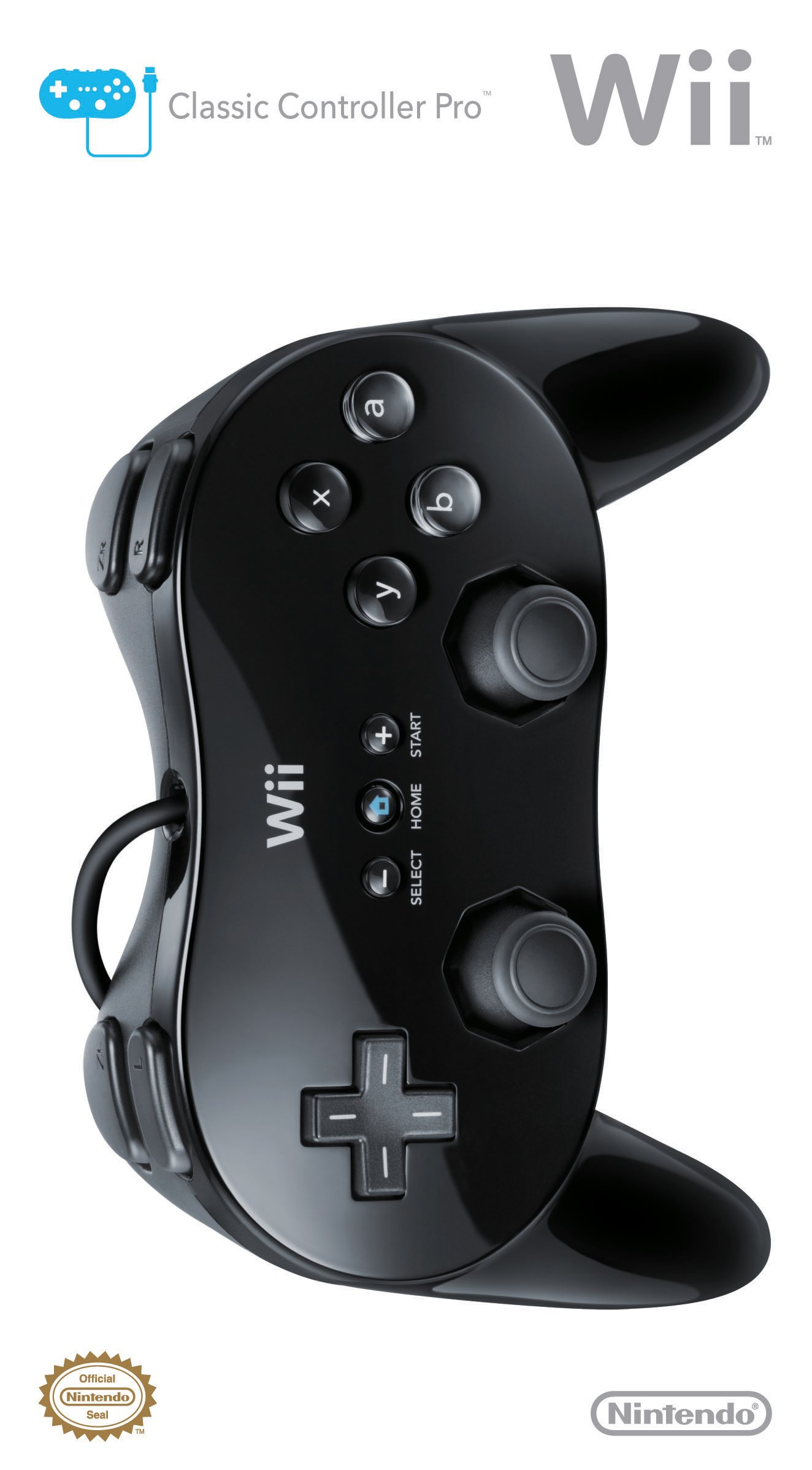 Wii Classic Controller Pro - Black - Nintendo Wii Standard Edition by Nintendo (Image #3)