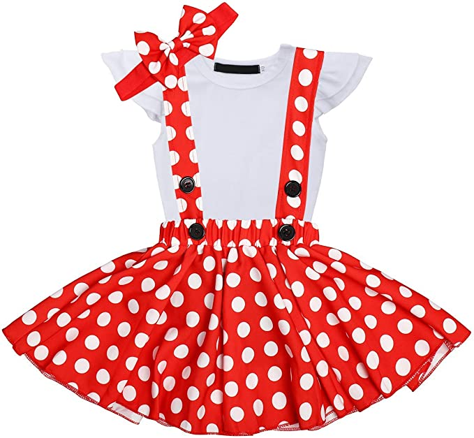Traje Infantil para niña, 3 Unidades, Polka con Puntos, Disfraz de ...