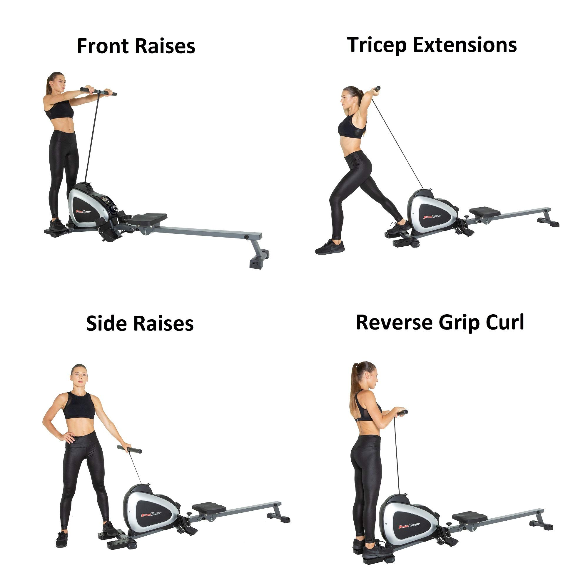 Fitness Reality 1000 Plus Bluetooth Magnetic Rower Rowing Machine with Extended Optional Full Body Exercises and Free App by Fitness Reality (Image #2)