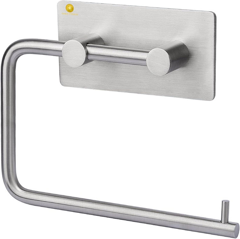 in acciaio INOX senza fori Dispenser autoadesivo per carta igienica da cucina Nero TAIPPAN montaggio a parete