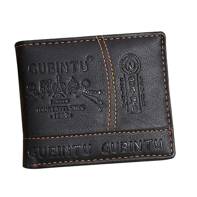 Herrengeldbörse EUZeo Männer Vintage Paris Muster Leder Karte ...