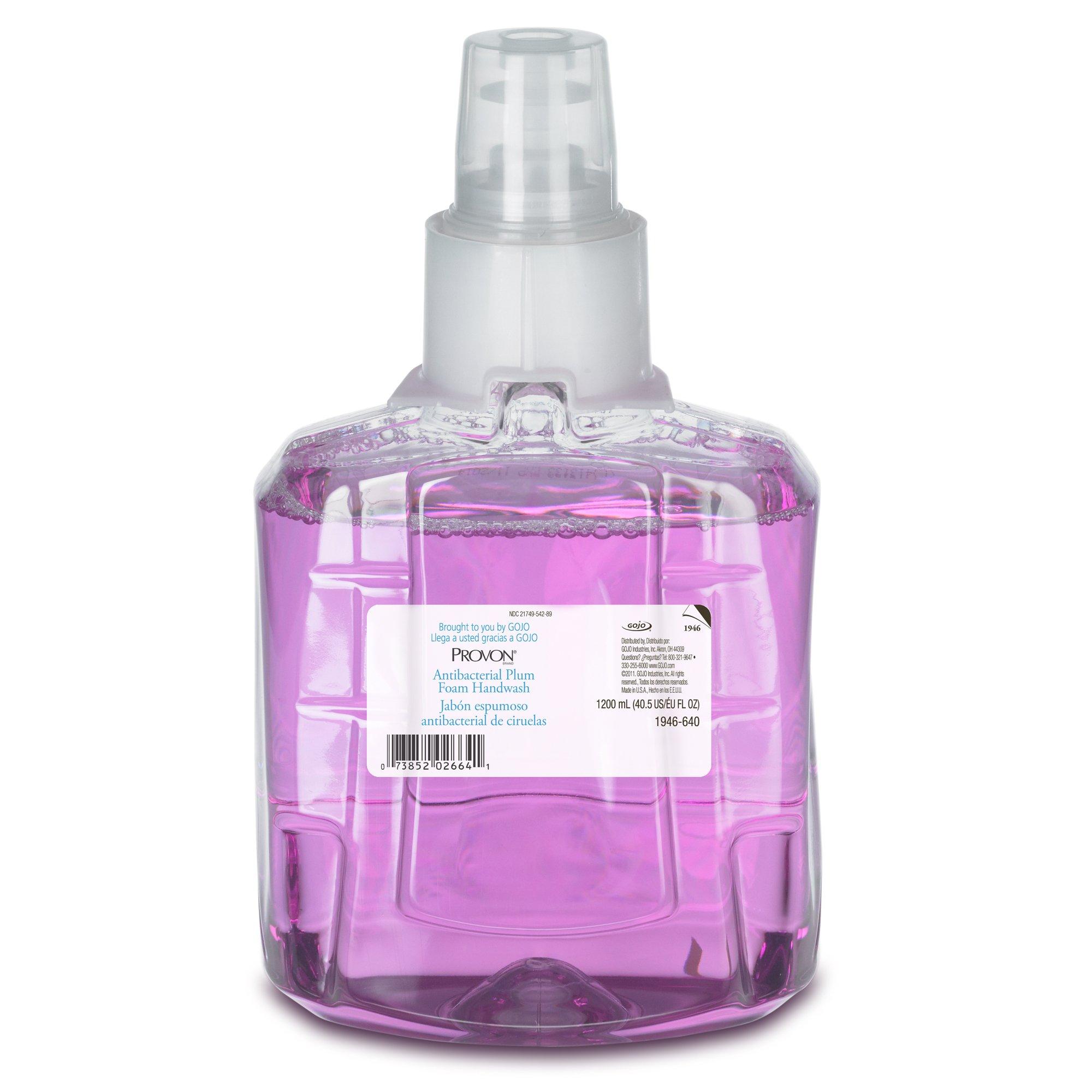 Provon 1946-02 Antibacterial Plum Foam Handwash, 1200 mL LTX-12 Refill (Pack of 2)