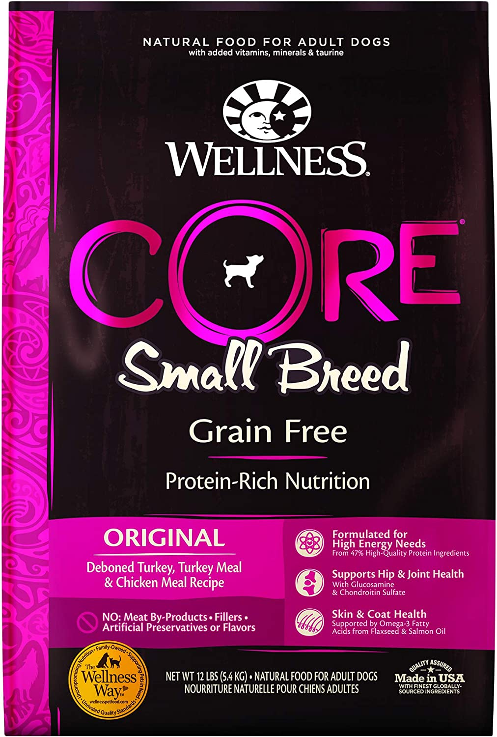 4. Wellness CORE Grain-Free Small Breed Dry Dog Food