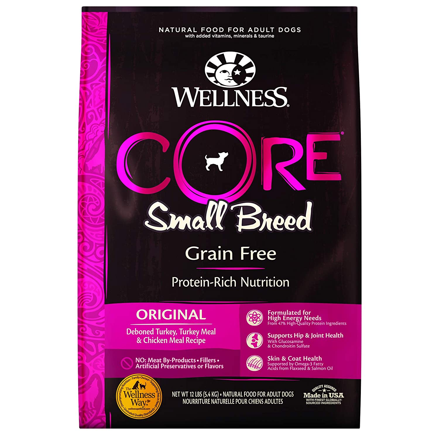 1.Wellness Core Natural Grain-Free Dry Dog Food Small Breed