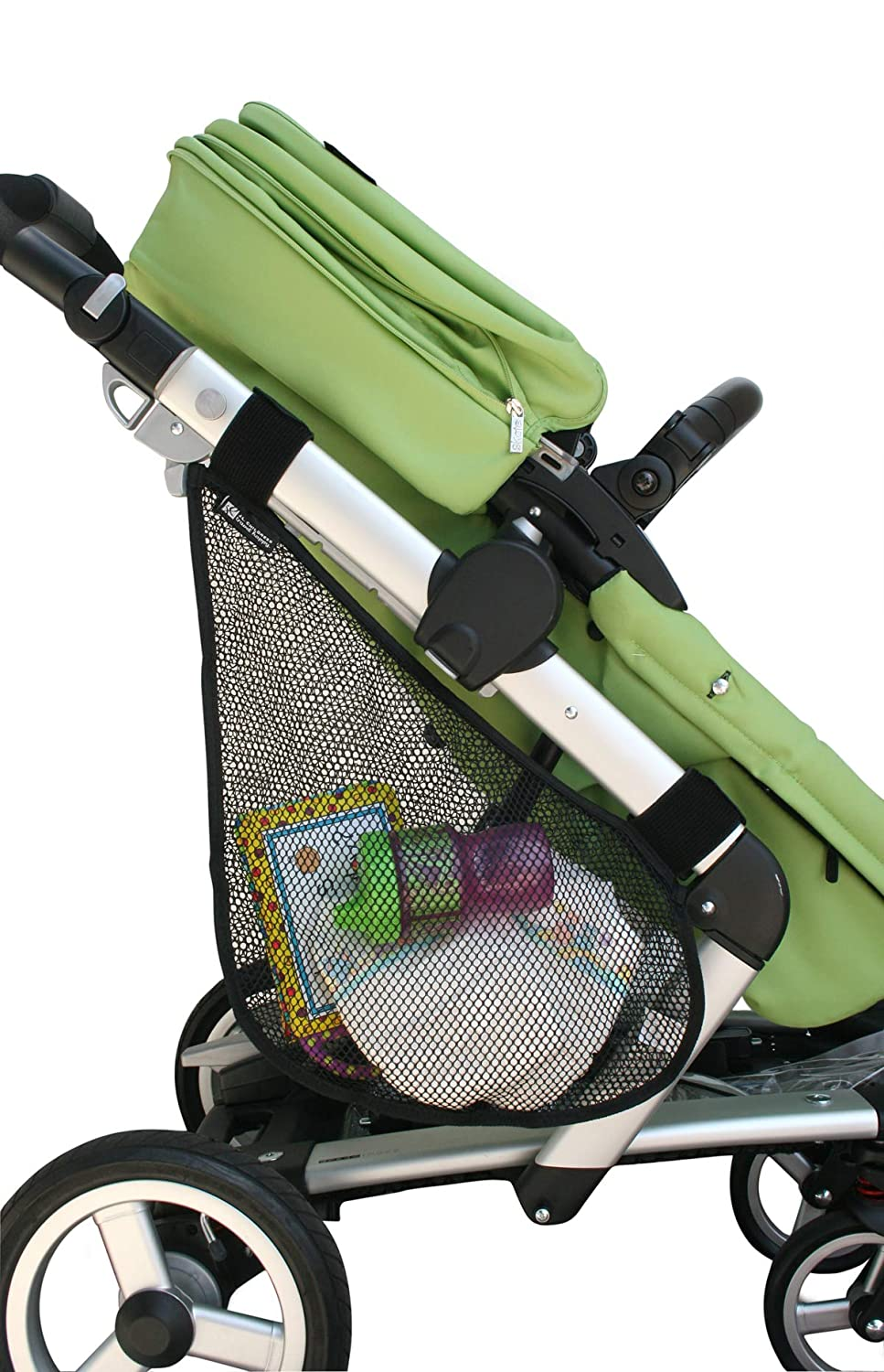 J.L. Childress Side Sling, Universal Fit Stroller Mesh Cargo Net and Organizer, Extra Stroller Storage Space, Non-Slip and Adjustable Straps, Black : Baby Stroller Accessories : Baby