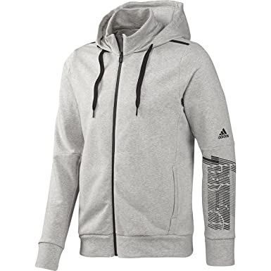 Details zu Adidas Hoodie Kapuzenpullover Jacke Grau Damen Gr. L