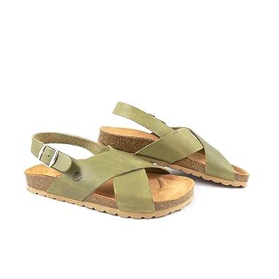 218c85f76 Yokono Mabul 032 Flat Sandal with Back Strap Green  Amazon.co.uk ...