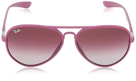 Ray-Ban AVIATOR LITEFORCE - METALLIZED VIOLET Frame GREY GRADIENT DARK  VIOLET Lenses 58mm Non-Polarized  Ray-Ban  Amazon.in  Clothing   Accessories d100279178
