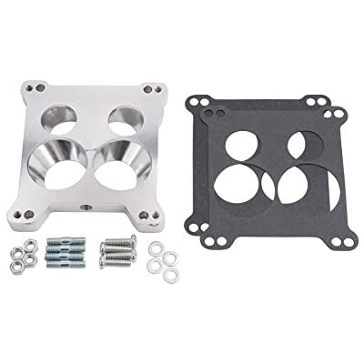 Edelbrock 2696 Four-Hole Square-Bore to Spread-Bore Carburetor Adapter: Automotive