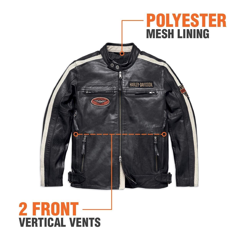 Harley-Davidson Official Mens Command Leather Jacket Black X-Large