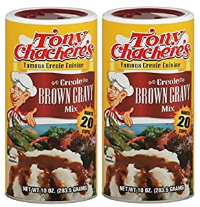 Tony Chachere's Instant Brown Gravy Mix - 10 Ounce Canister (Pack of 2)