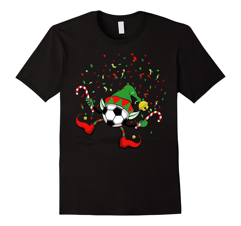 Dancing Soccer Christmas Elf T-Shirt