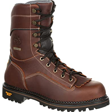 1a48a4e9f91 Amazon.com: Georgia Men's Boot Amp Lt Waterproof Logger Round Toe: Shoes
