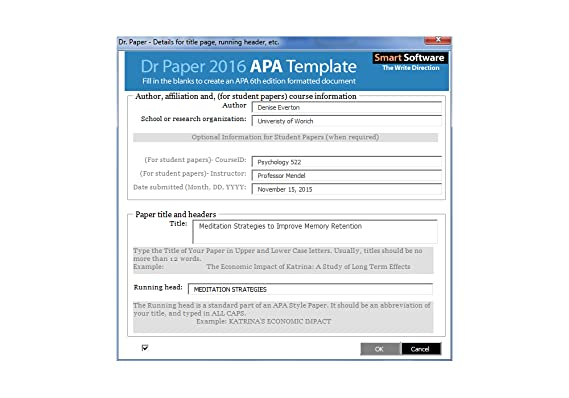how to type an apa paper
