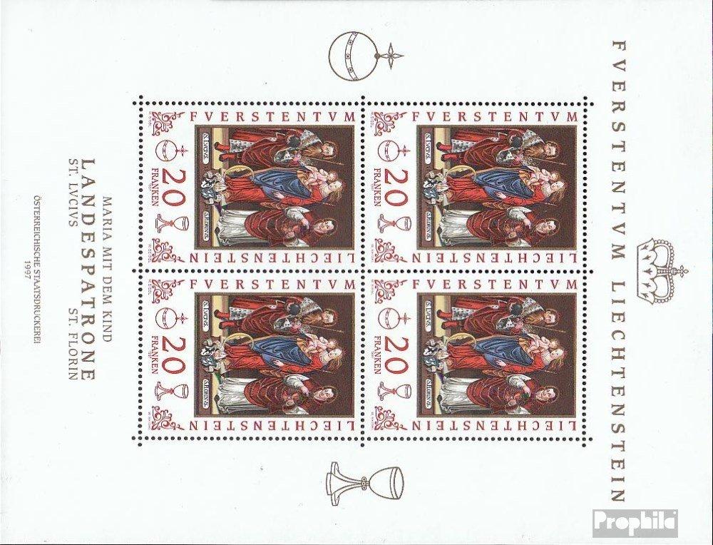 Prophila sellos para coleccionistas: Liechtenstein 1151 Sheetlet (completa.edición.) nuevo con goma original 1997 Cartucho de Tierra