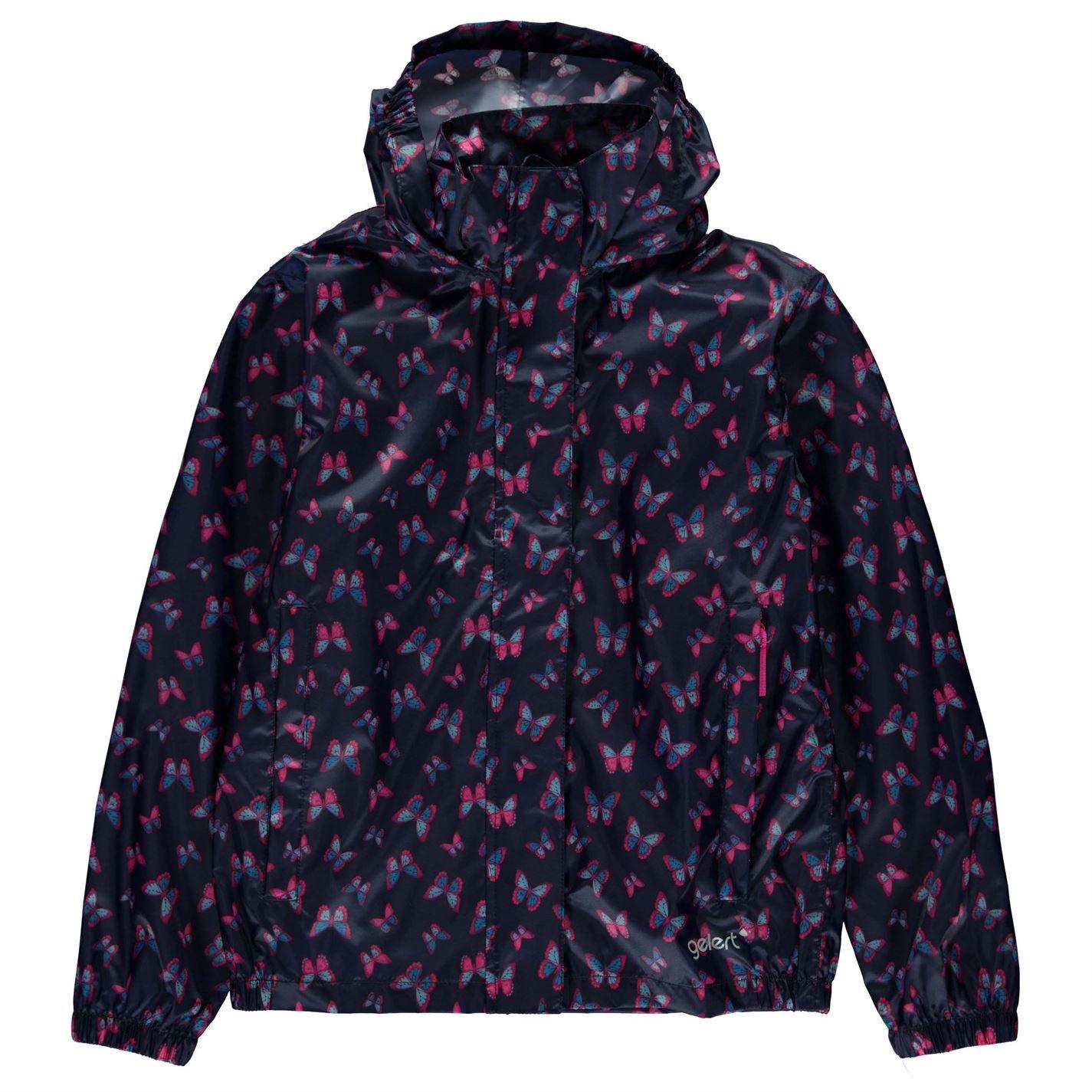 Gelert Girls Packaway Jacket Butterfly AOP 13 XLG