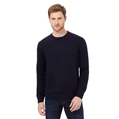 b1b9c69b Maine New England Men Big and Tall Navy Plain Crew Neck Jumper: Maine New  England: Amazon.co.uk: Clothing