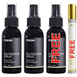 Mask Bathroom Spray 2oz Twin Pack, FREE Bottle and Atomizer, Green Tea & Lemongrass Fragrance, Toilet Spray, Before You Go Deodorizer, Best Value Air Freshener Poo Poop Spray, Perfect for Travel!