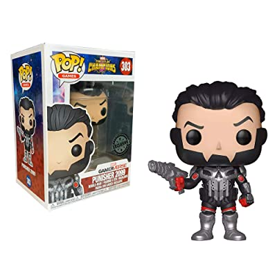 Pop Marvel Contest Of Champions Punisher 2099 Exclusive Collectible Vinyl Figure: Home & Kitchen