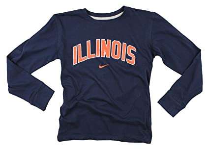 promo code 80378 25d92 Image Unavailable. Image not available for. Color  Nike NCAA Big Boys Youth  Illinois Fighting Illini Long Sleeve Arch Shirt, Navy. Roll over image to  ...