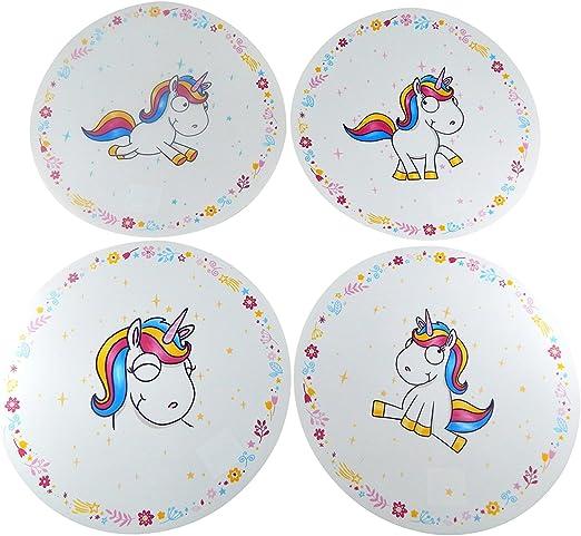 Tinas Collection Placemat Juego de Mesa 4 pcs. Set Unicornio: Amazon.es: Hogar