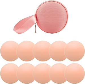 NippleCovers, Silicone Breast Covers Reusable Adhesive Invisible Bra Breast Pasties 5 Pairs