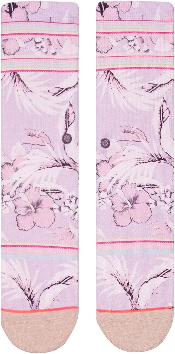 STANCE SOCKS NEW Womens Island Letter Crew Socks Purple BNWT