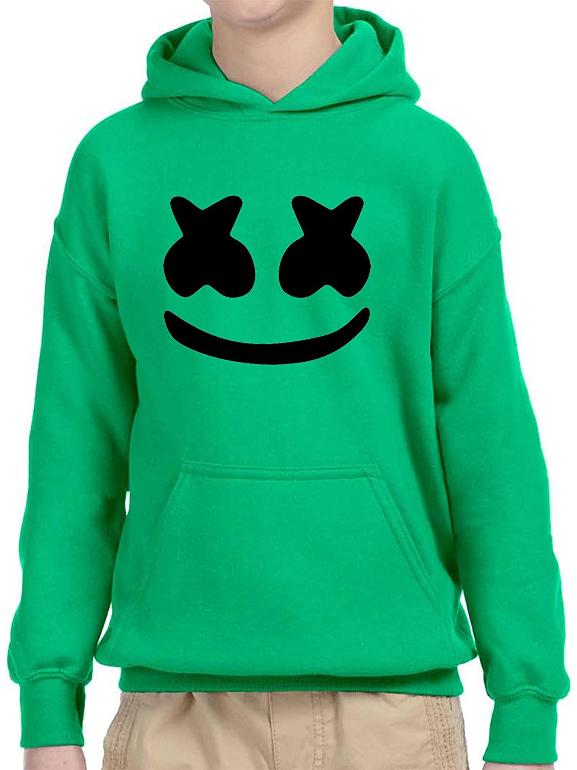 New Way 935 - Youth Hoodie Marshmello DJ Smiley Face Unisex Pullover Sweatshirt