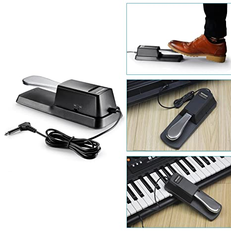 neewer clavier kit d accessoires - pedale sustain universelle style piano, simple embase x-style support pour
