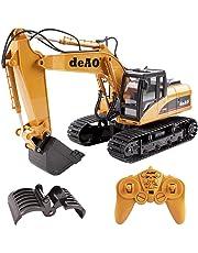 deAO RC Escavatore Camion di Costruzione Radiocomandato con Estensione Variabile 2.4GHz Sync System per Modalità Multi Giocatore