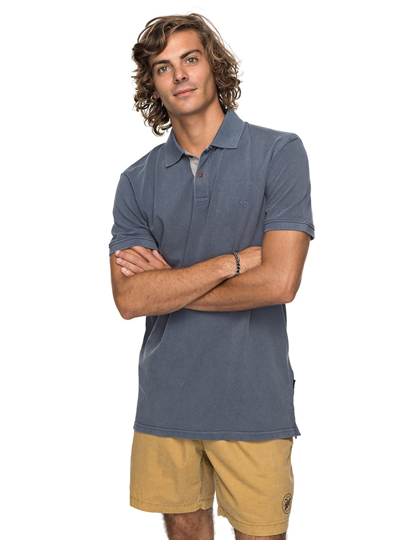 Quiksilver Newmizkimitt Kttp Byl0 Camiseta Polo, Hombre, Azul ...