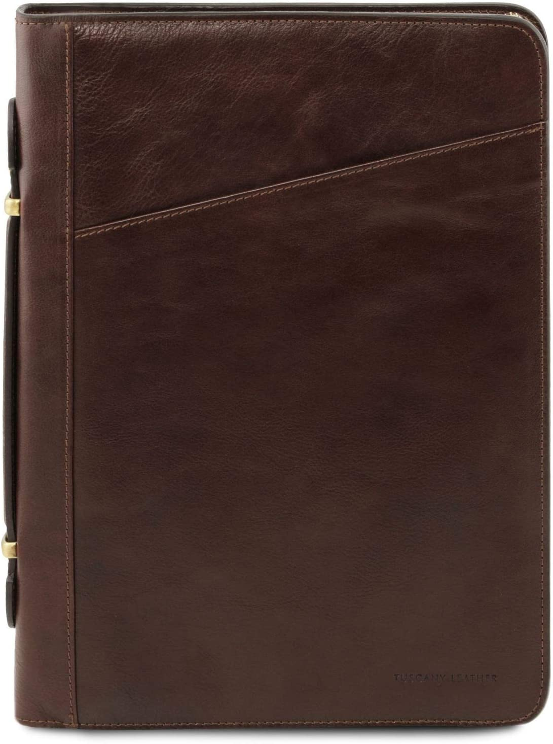 Tuscany Leather Costanzo Portadocumentos Elegante en Piel Marrón Oscuro