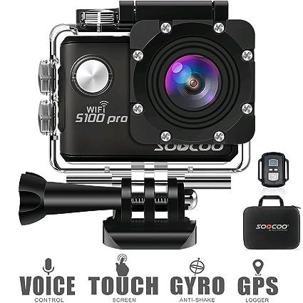 Amazon.com: 4 K WiFi deportes cámara de acción Soocoo, S100 ...