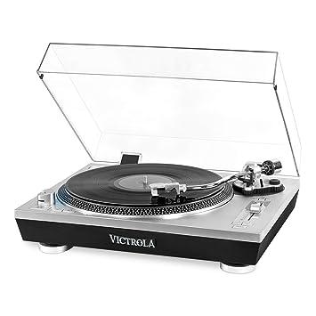 Victrola Pro Tocadiscos automático Bluetooth con grabación de ...