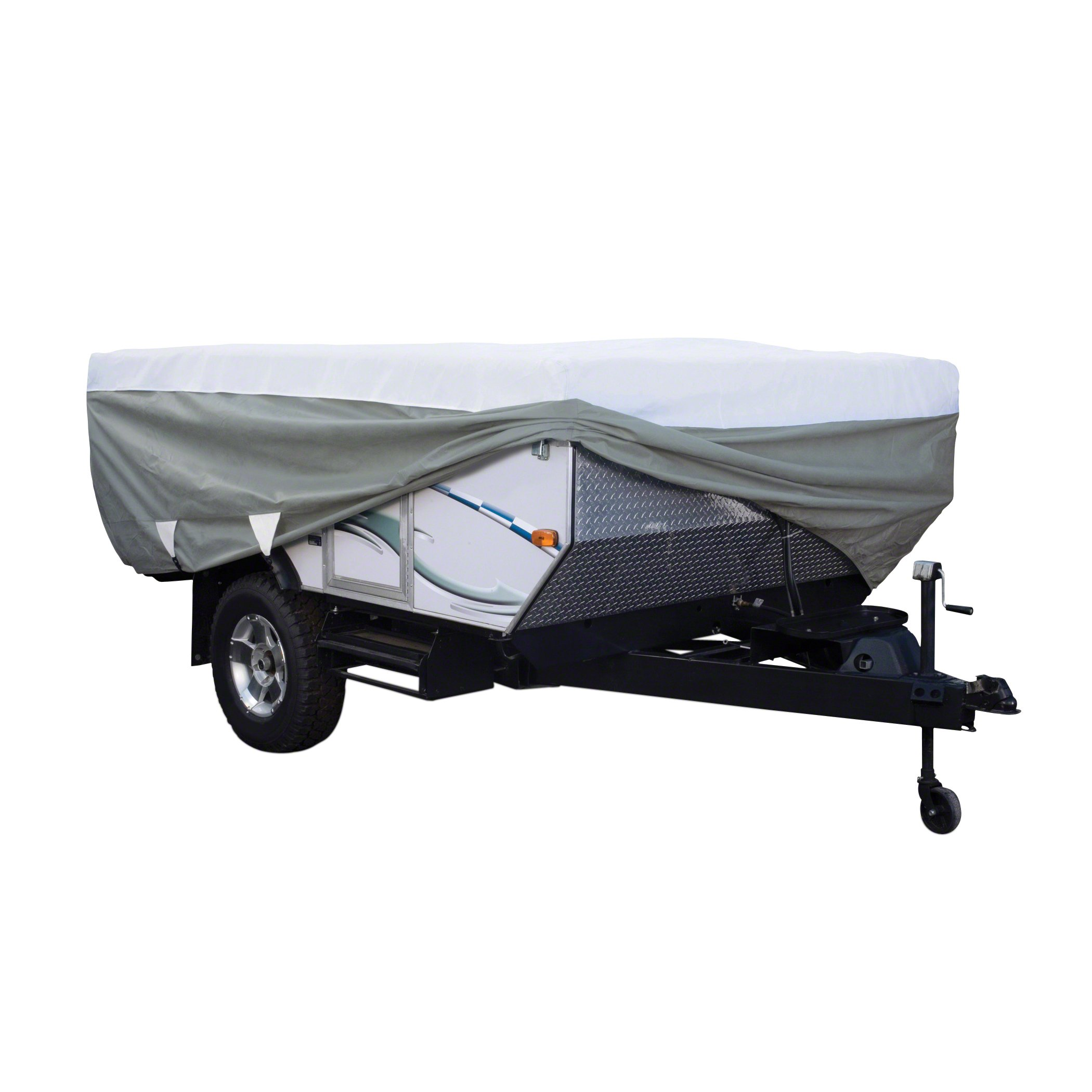 Classic Accessories OverDrive PolyPro 3 Deluxe Folding Camping Trailer Cover, Fits Up To 8' 6'' Trailers by Classic Accessories