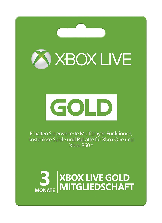 xbox one karte Microsoft Xbox Live Gold Subscription Card   Microsoft Xbox 360  xbox one karte